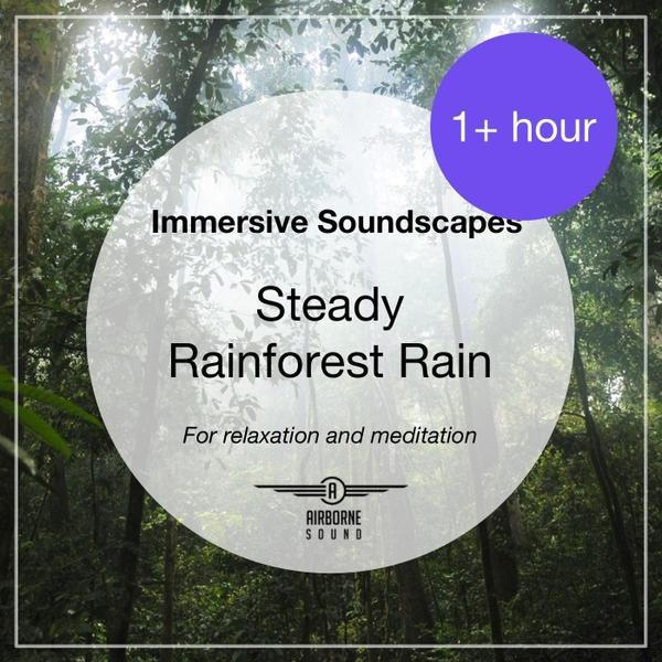 Airborne Sound | Immersive Soundscapes: Steady Rainforest Rain | CD
