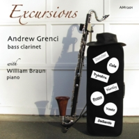 Andrew Grenci & William Braun | Zander, Cole, Dykstra, Hartley, Bozza, Youtz, DeSantis: Excursions for Bass Clarinet