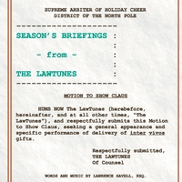 Lawrence Savell | Season's Briefings From The LawTunes