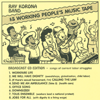 Ray Korona Band | $5 Working People's Music Tape