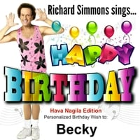 Richard simmons happy birthday becky hava nagila edition cd richard simmons happy birthday becky hava nagila edition altavistaventures Images