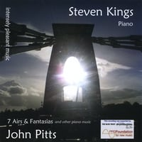 Steven Kings | intensely pleasant music: 7 Airs & Fantasias and other piano music by John Pitts