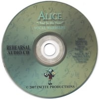 "INCITE PRODUCTIONS-Terri New | Alice ""I Feel So Me Now!"" Rehearsal CD"