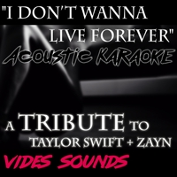 Vides Sounds | I Don't Wanna Live Forever (Acoustic Karaoke Version)