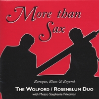 Wolford/Rosenblum Duo | More Than Sax